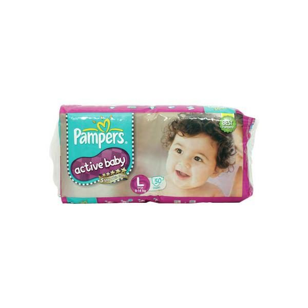 Pampers Active Baby Large Diapers 50s
