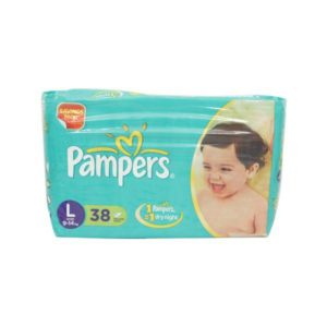 Pampers L Diapers 38s