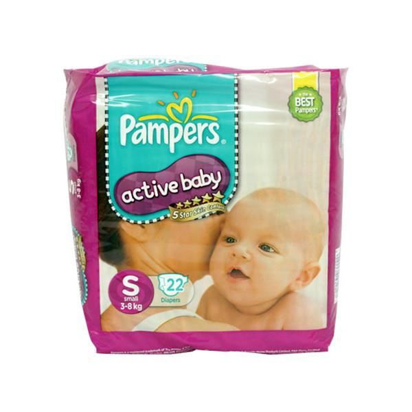Pampers Active Baby Diapers S 22s