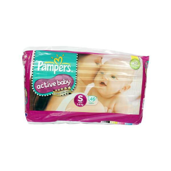 Pampers Active Baby Diapers S 46s 1
