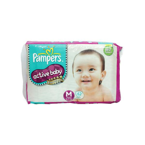 Pampers Active Baby Medium Diapers 62s