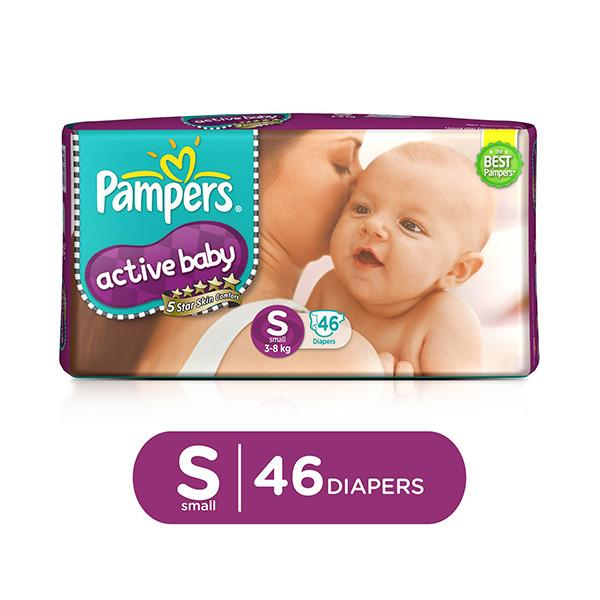 Pampers Active Baby Small 46pc