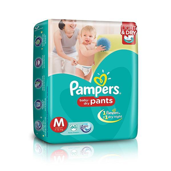 Pampers Diaper Pants Medium 60pc