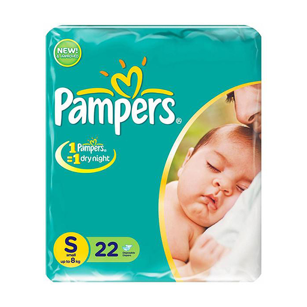 Pampers Diaper Small Up To 8kg 22pc