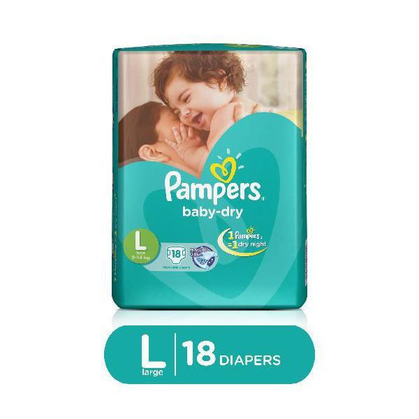 Pampers Diapers Act Baby Large 9 14k 18s