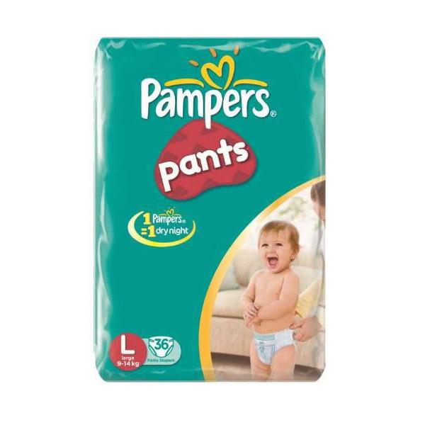 Pampers Diapers Act Baby Large 9 14k 36s