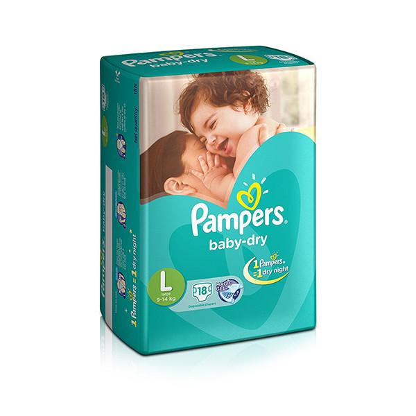 Pampers Diapers Large 9 14kg 18s