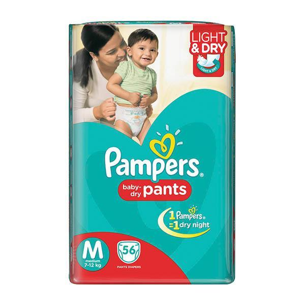 Pampers Diapers Md 56s X 4 Jp