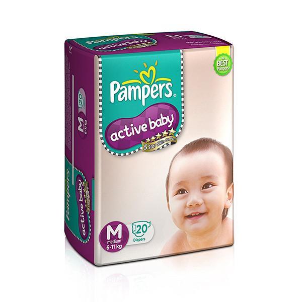 Pampers Diapers Medium 6 11kg 20s