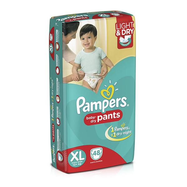 Pampers Dry Diapers Pants Xl 48pc