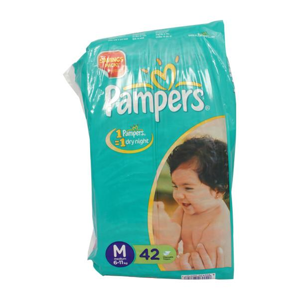 Pampers M Diapers 42s