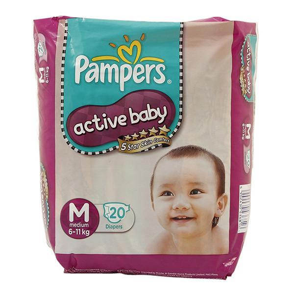 Pampers Medium 6 11 Kg Diapers 20 Pcs