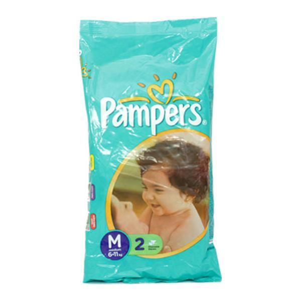 Pampers Medium Diapers 2s