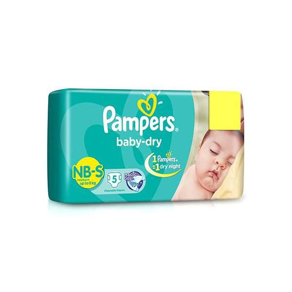 Pampers New Baby Small 5 Diapers 1
