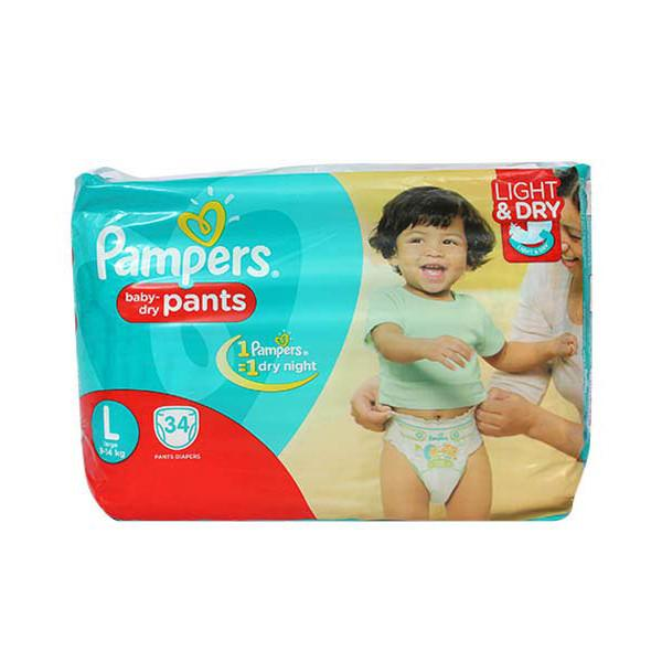 Pampers Pants L 34s