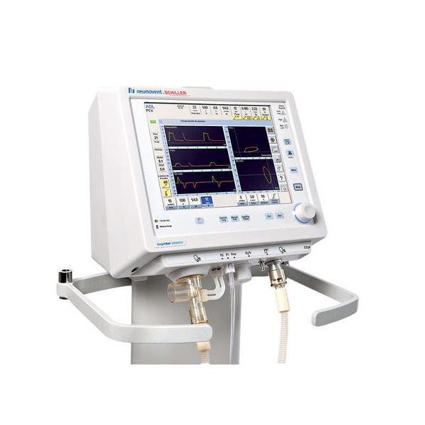 Schiller Graphnet Advance Universal Ventilator Adult Pediatric Neonatal