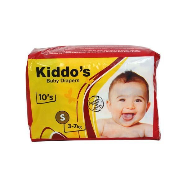 Kiddo's Baby Diapers Small 10s