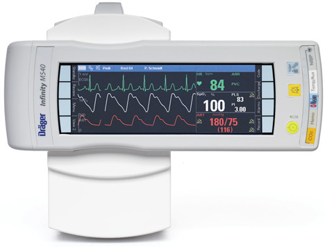 Draegar Infinity M540 With C 700 Patient Monitor
