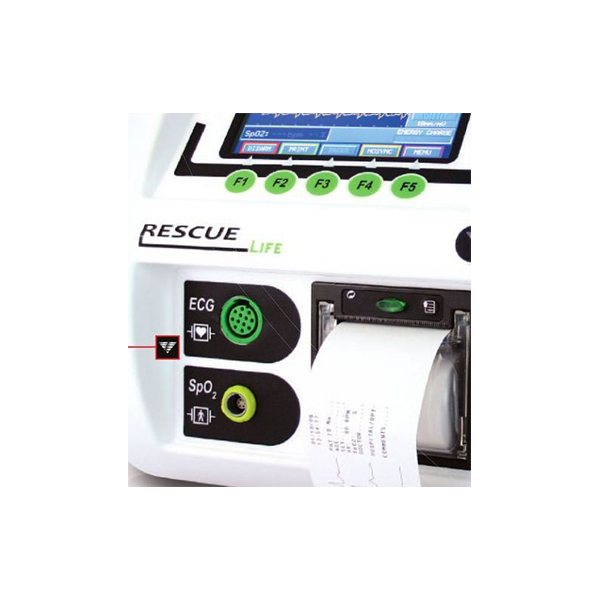 RESCUE Life Manual And Semiautomatic Defibrillator With Monitor 1 1