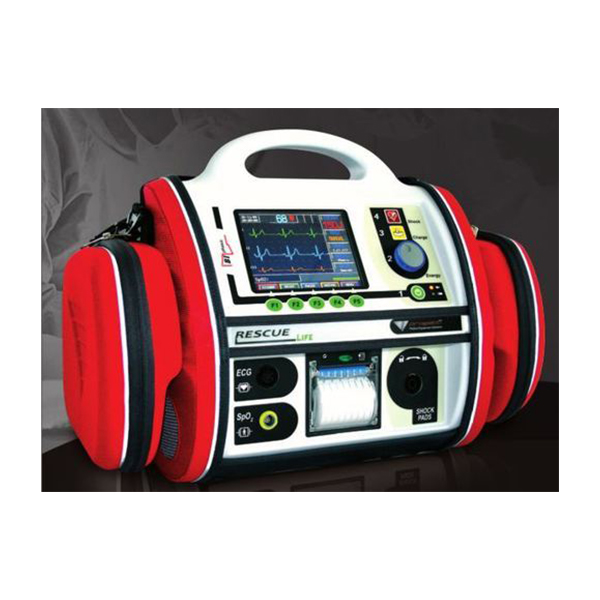 RESCUE Life Manual And Semiautomatic Defibrillator With Monitor 1