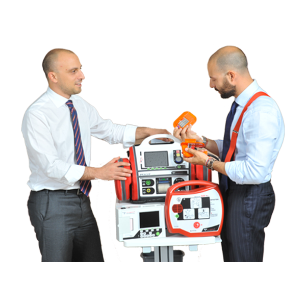 RESCUE Life Manual And Semiautomatic Defibrillator With Monitor 2