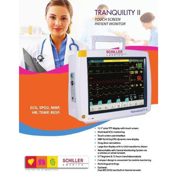 Schiller Tranquility II Touchscreen Patient Monitor Imported 1 2