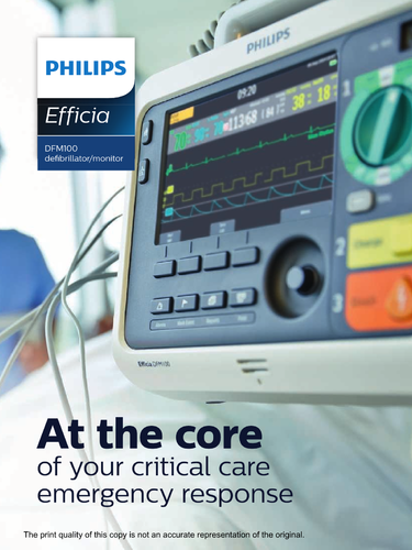 Philips Efficia DFM100 Defibrillator Monitor