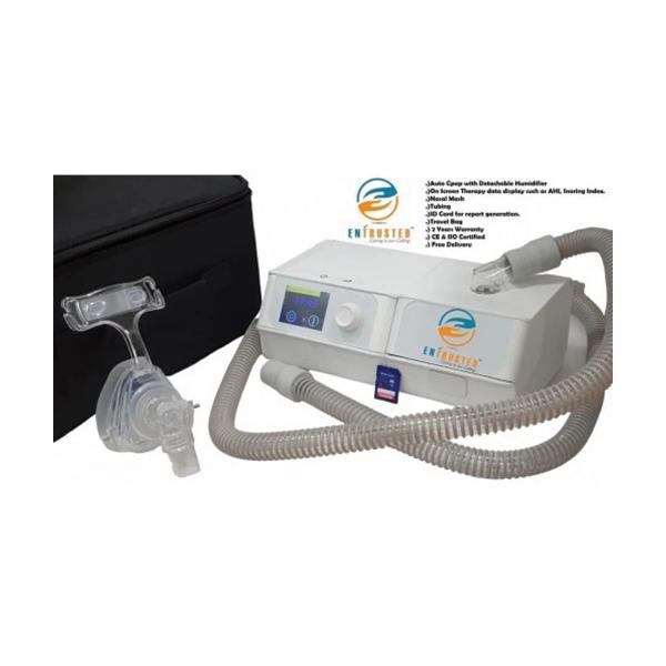 Delta Sleep Auto Cpap A20 With Detachable Humidifier Nasal Mask Tubing SD Card Travel Bag