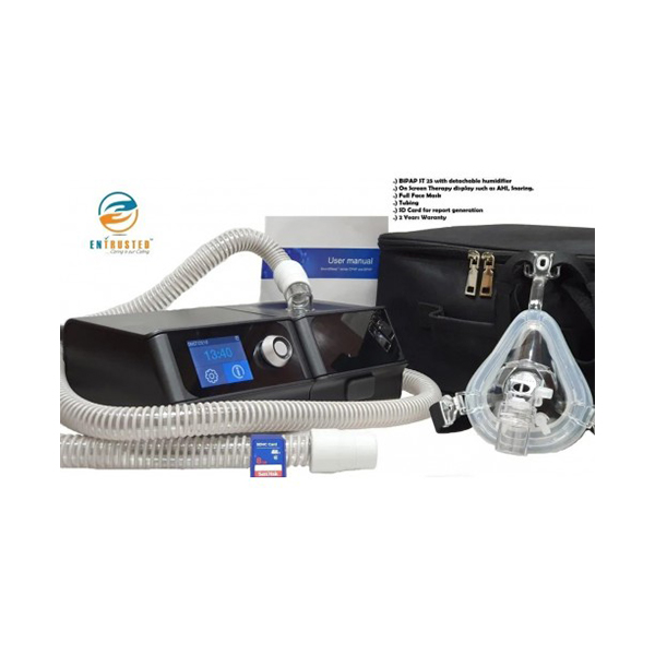 Pro Vent ST25 With Detachable Humidifier Full Face Mask Tubing SD Card Travel Bag