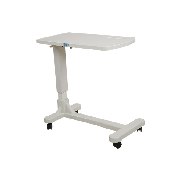 White Height Adjustable Bed Side Table for Hospital