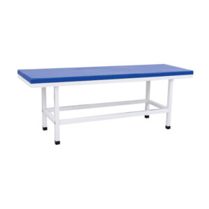 White and Blue Patient Attendant Beds for Hospital