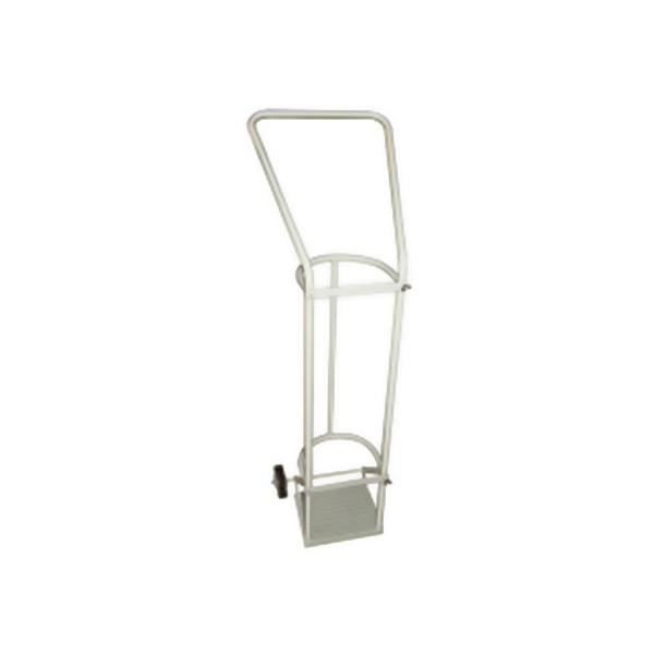 MS Oxygen Cylinder Trolley with Rubber Tires for Hospital
