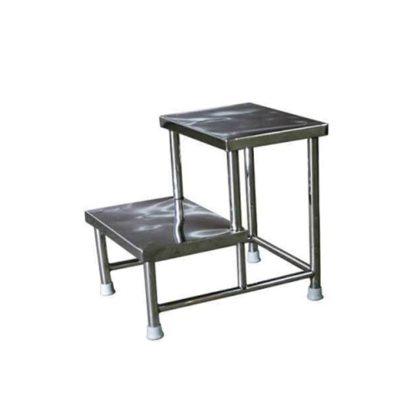 Stainless Steel Double Step Stool for Hospital