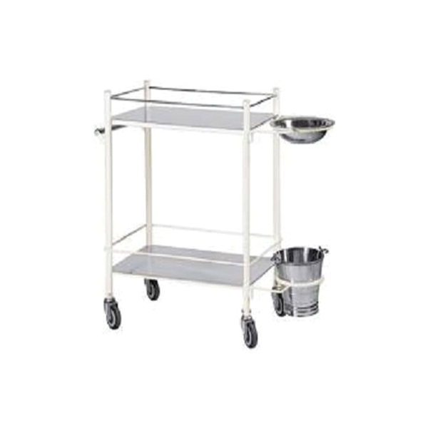 Stainless Steel Dressing Trolley with Bowl for Hospital