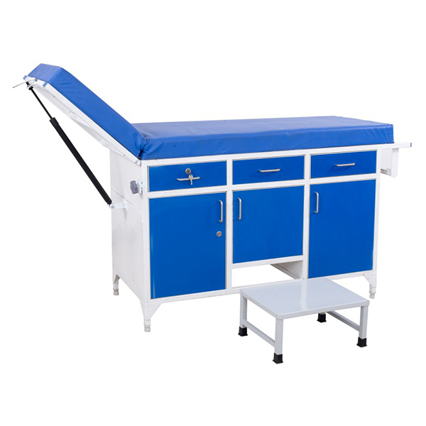 Examination Couch With Gas Spring Operated Backrest 2