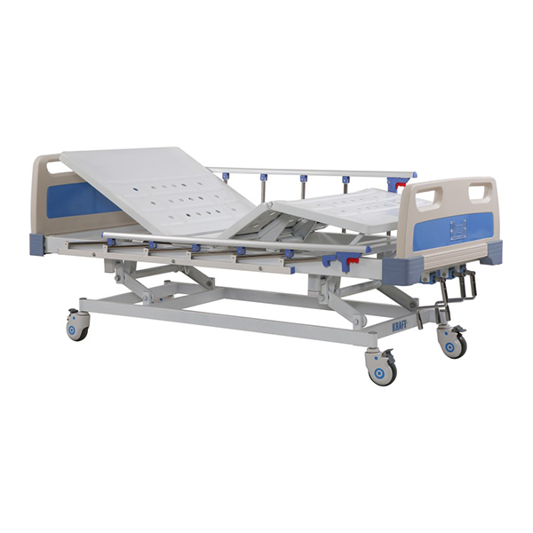 Height Adjustable Manual Icu Bed 3 Function with ABS Side Rails