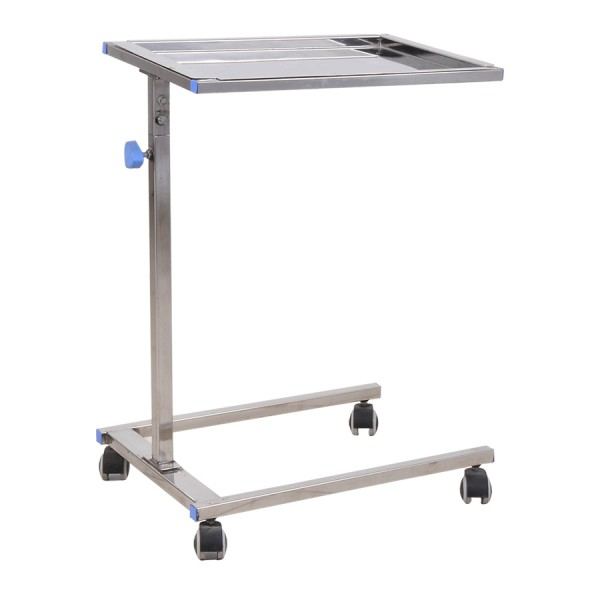 Height Adjustable ss Surgical Mayo's Instrument Trolley for Hospitals