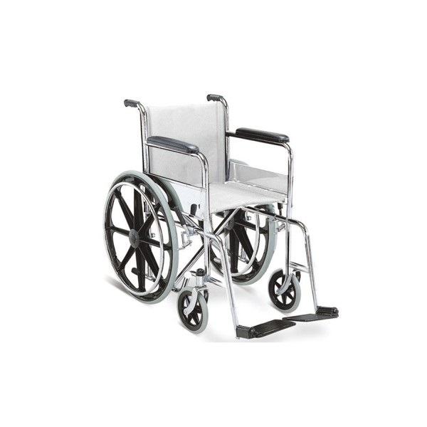 Stainless Steel Non Folding Wheelchair for Hospital