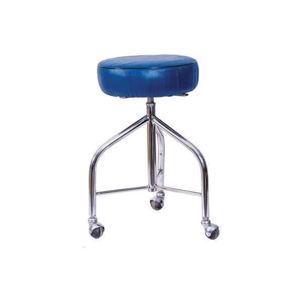 White Stainless Steel Patient Revolving Stool for Hospitals and Clinics