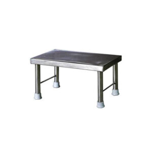 Stainless Steel Single Step Stool for Hospitals and Clinics