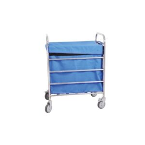 Blue Stainless Steel Soiled Linen Trolley for Hospital