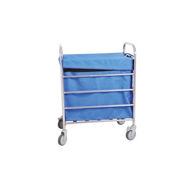 Blue Stainless Steel Soiled Linen Trolley for Hospital