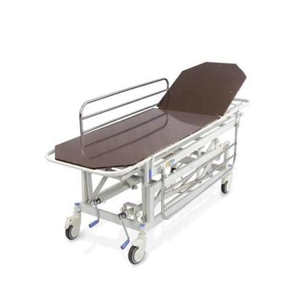 Height Adjustable Trauma Care Recovery Trolley for Hospital with Stainless Steel Side Rails