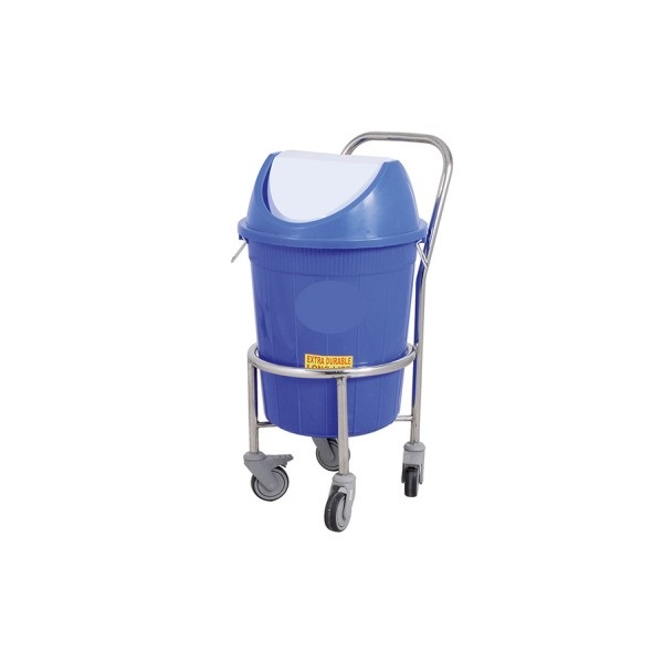 Stainless Steel Waste Carrying Trolley for Hospital