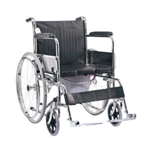 Wheelchair with Commode Seat Lift 1
