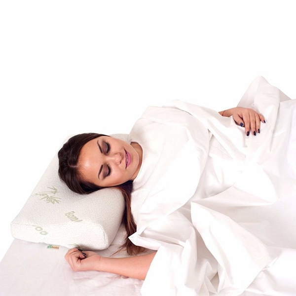 Cervical Pillow With Organic Bamboo Fabric Cover Orthopedic Pillow For Neck Pain Relief