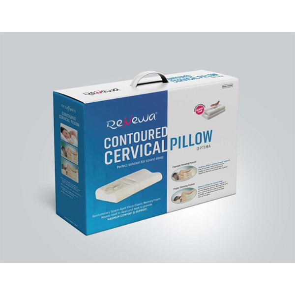 Renewa Orthopedic Contoured Cervical Pillow With Memory Foam For Neck Pain