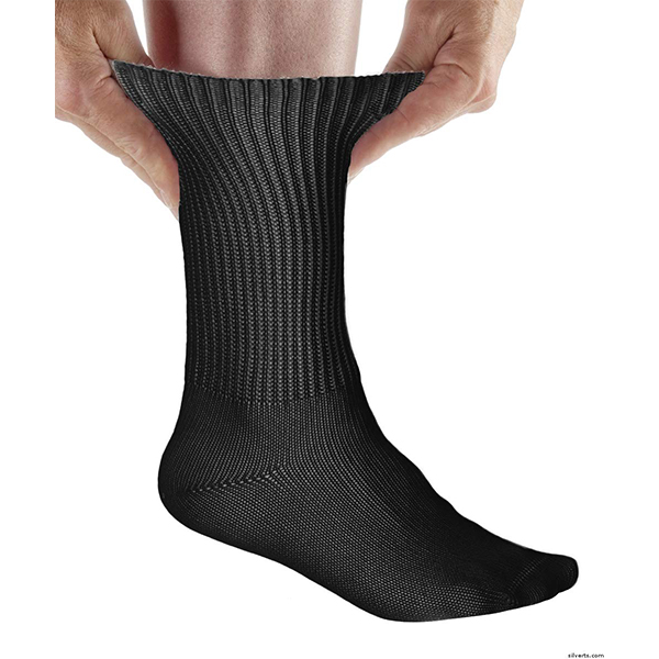 SIMCAN Cotton Diabetic Socks Black Large