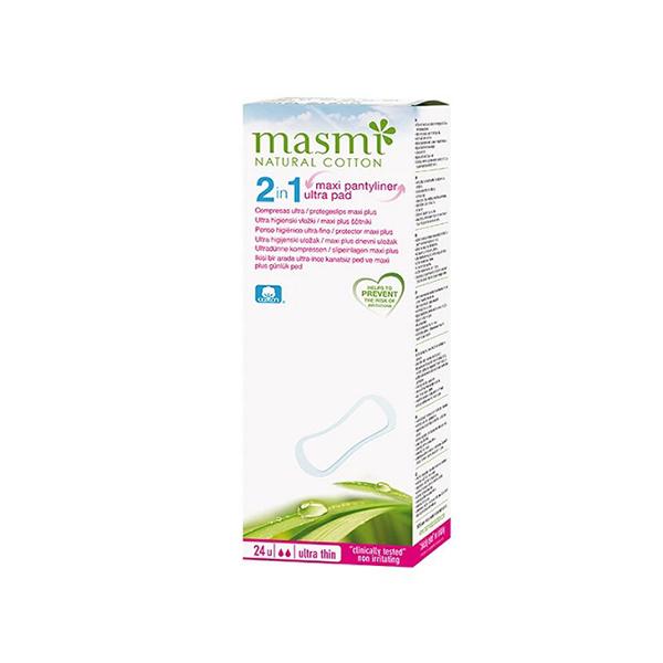 Masmi 100 Pure Cotton 2 In 1 GCo Maxi Plus Ultra Pads 24s