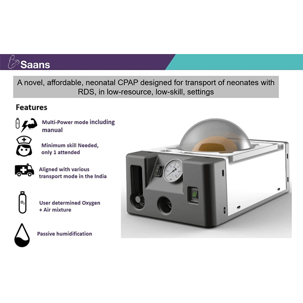 Saans A Neonatal CPAP Device